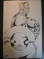 captain america. heroes reborn. rob liefeld. tits!!! Comic Art