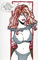 The Red Sonja by Amanda Conner 2007 Comic Art
