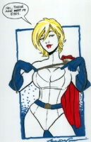Power Girl by Amanda Conner Comic Art