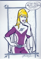 Legion of Super Heroes SATURN GIRL by Amanda Conner ...URANUS GAG! Comic Art