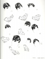 Ryan Sook SUPERMAN Licensing Dept Style Guide HAIR and CREST part 1 Comic Art
