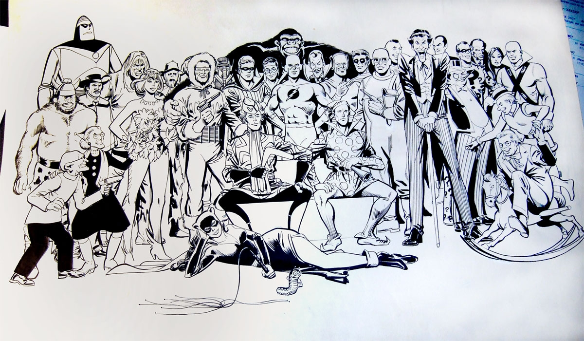 Secret Origins of the Super Villains Pin Up Comic Art