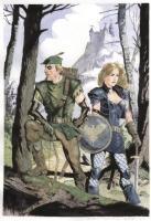 Elseworlds Black Canary & Green Arrow by Bo Hampton Comic Art