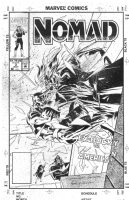 Samuel Clarke Hawbaker Nomad 3 cover Comic Art