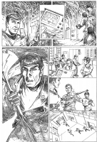 Star Trek ALIENS page 2 Comic Art