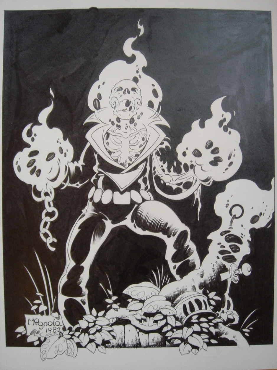 1982 - Original Ghost Rider by Mike Mignola Comic Art