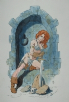 Hampton - Red Sonja Comic Art