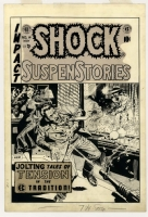 SHOCK SUSPENSTORIES #14 COVER (1954, WALLY WOOD EC CRIME ART) Comic Art