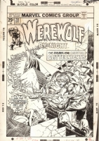 WEREWOLF BY NIGHT #28 COVER ( 1975, GIL KANE ) Comic Art