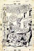 AMAZING SPIDER-MAN #96 COVER Artwork ( 1st Not approved by CCA,  1971, Gil Kane ) Comic Art
