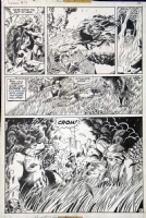 CONAN #13 PAGE 21 HALF-SPLASH ( 1972, BARRY WINDSOR-SMITH ) Comic Art