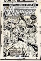 AVENGERS #144 COVER ( 1976, GIL KANE ) 1ST HELLCAT Comic Art
