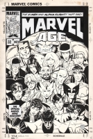 MARVEL AGE #32 COVER ( 1985, PAUL SMITH ) X-MEN, ALPHA FLIGHT AND LOKI Comic Art