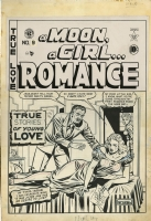 A MOON, A GIRL�ROMANCE #9 (#1) COVER ( 1949, 3rd Feldstein E.C. Cover!) Comic Art