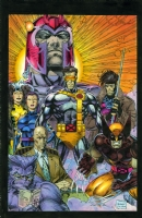 X-MEN GROUNDED POSTER #108 and X-MEN MUTANT GENESIS TRADE PAPERBACK COVER ( 1991, JIM LEE ) Comic Art