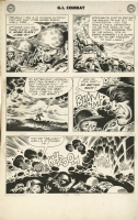 G.I. COMBAT #68 PAGE 6 ( 1959, Joe Kubert ) SGT. ROCK PROTOTYPE ISSUE - ROCK IN EVERY PANEL! ) Comic Art