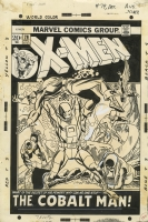 X-MEN #79 COVER ( 1972, Gil Kane )  Rare Gil Kane X-men Cover from this Period! Comic Art