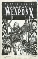DEADPOOL #60 COVER ( 2002, BARRY WINDSOR-SMITH) HOMAGE TO UNCANNY X-MEN #205  Comic Art
