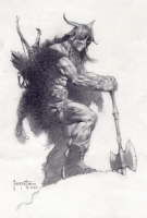 FRANK FRAZETTA PUBLISHED CONAN ILLUSTRATION Comic Art
