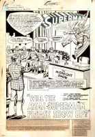 ACTION COMICS #474 PAGE 1 TITLE SPLASH  Comic Art