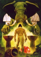 CONAN 'TOWER OF THE ELEPHANT' OIL PAINTING Comic Art
