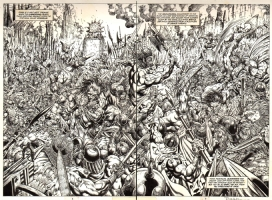 CONAN THE ADVENTURER #1 PAGE 2 & 3 DOUBLE SPLASH Comic Art