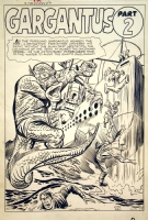 STRANGE TALES #85 AWESOME KIRBY PRE-HERO MONSTER SPLASH AND STORY PAGES Comic Art