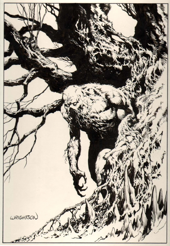 SWAMP THING COMMISSION PIN-UP Comic Art