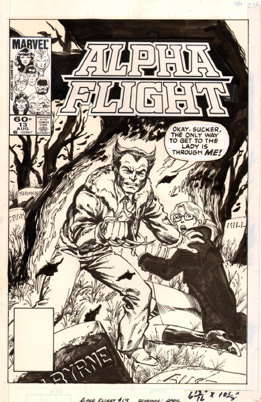 ALPHA FLIGHT #13 COVER (BYRNE) Comic Art