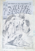 BUSCEMA SILVER SURFER #5 UNPUBLISHED COVER Comic Art