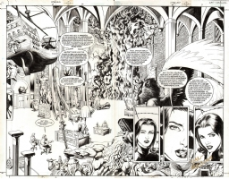 FABLES #1 DOUBLE PAGE SPLASH Comic Art