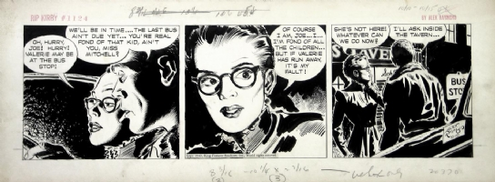ALEX RAYMOND RIP KIRBY DAILIES Comic Art