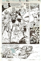 JIM LEE X-MEN PAGE - HUGE MAGNETO IMAGE Comic Art