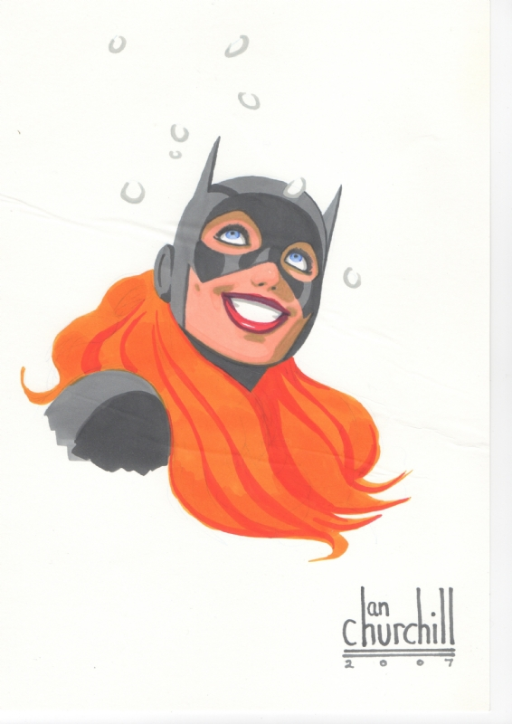 Ian Churchill Batgirl Comic Art