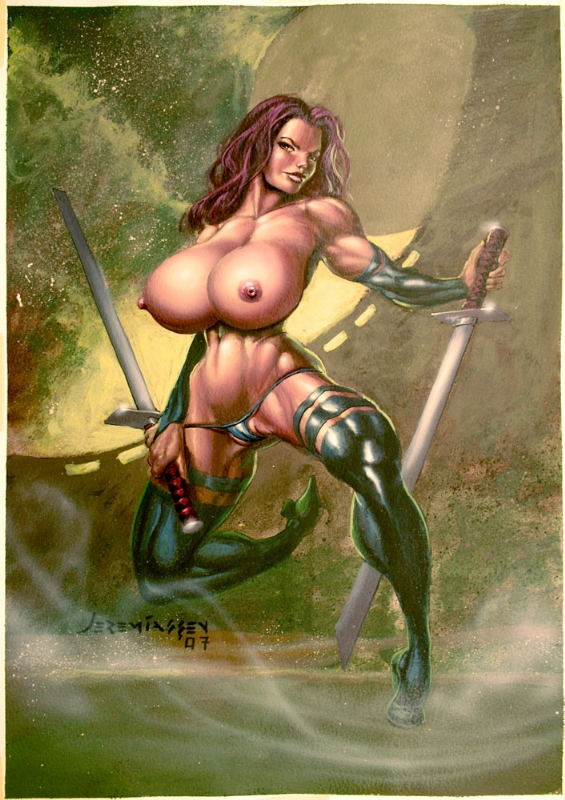 Psylocke Nude Comic Art