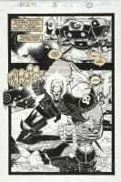 Ghost Rider 2099 #3 pg 1 Comic Art