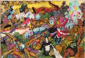Alan Davis-Captain Britain #6 cover Comic Art