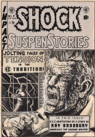 Al Feldstein: Shock SuspenStories #7 cover Comic Art