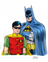 Batman and Robin in color by Spears Comic Art