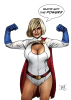 Power Girl by Mark Spears Comic Art