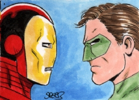 Iron Man vs Green Lantern - Mark Spears Comic Art