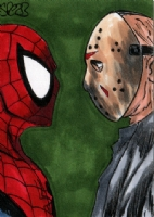 Spider-man vs Jason Voorhees by Mark Spears Comic Art