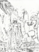 Red Sonja and Thusla Doom by Mark Spears Comic Art