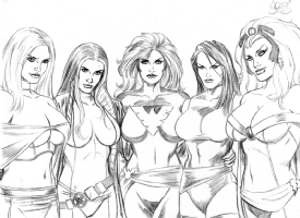 The X-Girls of X-men by Mark Spears Comic Art