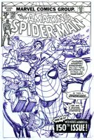 Amazing Spider-man #150 Cover Prelim Comic Art