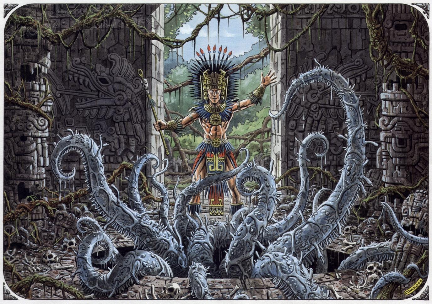 Aztec Comic Art