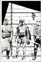 Star Wars: Boba Fett Wizard Special Edition #1/2 Cover-Tim Bradstreet  Comic Art