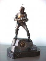 Star Wars, Boba Fett Bronze Statue (Front View 2)-Randy Bowen Comic Art