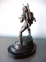 Star Wars, Boba Fett Bronze Statue (Rear Left Side)-Randy Bowen Comic Art