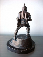 Boba Fett Bronze Statue (Back)-Randy Bowen Comic Art
